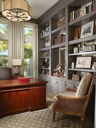 law office decor. Amazing Law Office Decor With A Glossy Mahogany Desk And Expansive Gray Built Ins, This