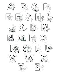Coloring Page Letters Coloring Pages Printable Letters Page Letter