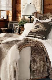 lodge bedroom decorating ideas. a cozy and glamourous bedding collection, alpine lodge features shades of cream cocoa, bedroom decorating ideas \