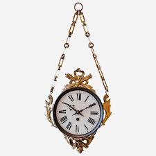 decorative 19th c hanging wall clock