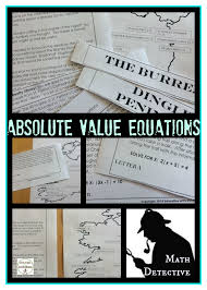 review practice or s solving absolute value equations with the math detective students
