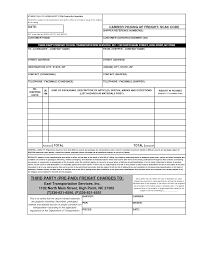 Short Form Bill Of Lading Template Straight Bill Of Lading Short Form Template Free Bill Of