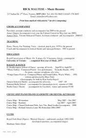 Music Resume Template Interesting Musical Resume Template Formatted Templates Example