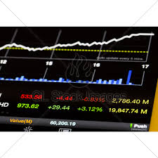 Stock Market Values And Chart Going Up Open From Tablet Gl