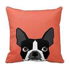 Boston Terrier Pillow Cover