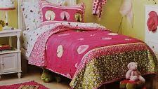 Circo Kids and Teens Quilt | eBay & CIRCO TWIN QUILT SHAM PILLOW RUFFLED BEDSKIRT SET 4PC LADYBUG FLORAL PINK  GREEN Adamdwight.com