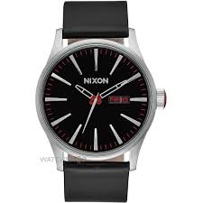 """men s nixon the sentry leather watch a105 000 watch shop comâ""""¢ mens nixon the sentry leather watch a105 000"""