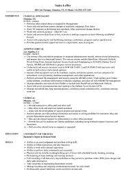 Clerical Resume Samples Velvet Jobs