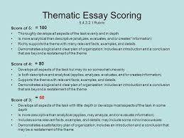 thematic essay rubric co thematic essay rubric
