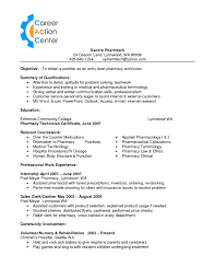 Pharmacy Technician Resume Objective Interesting Resume Objective The Best Resume 48 48 Outathyme