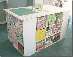 it s 4 cubby shelves combined together to create not only fabric storage but a cutting and pattern layout area swoon i found this great idea over at