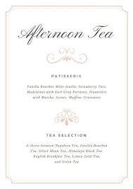 High Tea Menu Template Slipcc Co