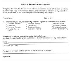 Sample Of Medical Records Lovely Sample Medical Records Release Form At Photo 18