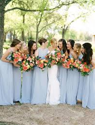 Colorful bridesmaids in periwinkle: Photography: Ben Q. Photography -  benqphotography.com/