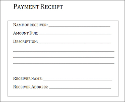 Paid Receipt Template Word Free Customer Payment Receipt And Form Sample Blank For Your