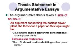 an argumentative thesis strong thesis statements the purdue university online writing lab