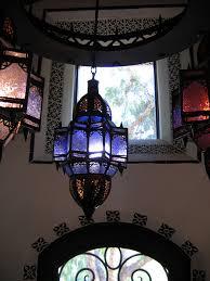 santa barbara spanish style entry foyer moorish pendants terranean