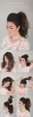 Quick Cute Ponytail Hairstyles 25 Best Ideas About Diy Hairstyles On Pinterest Easy Hair Easy