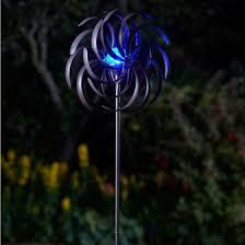 smart garden solar spiro light wind