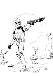 Clone Trooper Coloring Page Movies And Books Coloring Pages