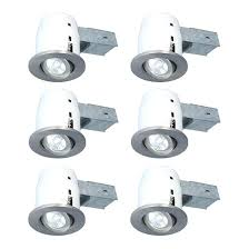 set of 6 recessed light fixtures insulated lighting insulating lights from below