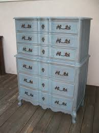 Tall Dresser Bedroom Furniture Chic And Shabby Blue Grey Tall Dresser Or Bedroom Set Shabby