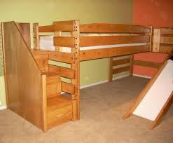 Castle toddler bed with slide