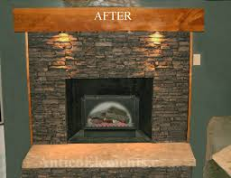 before faux stone panels after faux stone panels