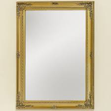 noble baroque wall mirror gold 82 x 62cm antique wood frame