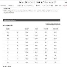 White House Black Market Size Chart Dress White House Black Market Houndstooth Dress