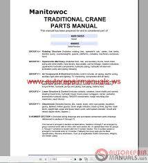 Manitowoc 4600 S4 Operators Manual