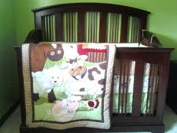 decoration animal crib bedding set showing farm themed nursery