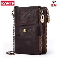 Designer Rfid Wallets Us 13 89 55 Off Kavis 100 Genuine Leather Rfid Wallet Men Crazy Horse Wallets Coin Purse Short Male Money Bag Quality Designer Mini Walet Small In