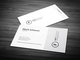 Simple Monochrome Business Card Template Free Download