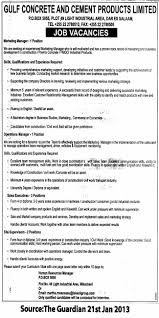 Marketing Administrator Job Description Gulf Concrete And Cement ...
