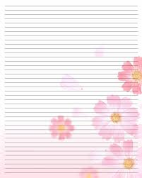 Letter Writing Paper Template Printable Writing Paper 24 By AimeeValentineArtdeviantart 9