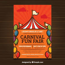 Free Carnival Poster Template Carnival Poster Template With Tent Vector Free Download