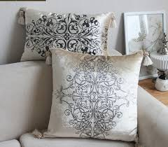 Small Picture Aliexpresscom Buy Luxurious Sliver Print Velvet Pillow with