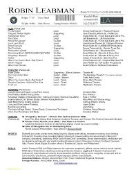 Free Acting Resume Template Download And Resume Template Design