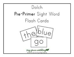Large Dolch Pre Primer Sight Words Flash Card Printable