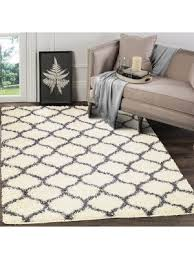 trellis gy ivory dark grey area rug