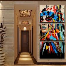 beauty canvas painting native american indian girl feathered home wall art decor print on home wall art painting with beauty canvas painting native american indian girl feathered home