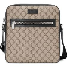 gucci bags for men. gucci gg supreme flat messenger ($825) ❤ liked on polyvore featuring men\u0027s fashion, bags, men, mens bags for men