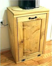 wooden trash can wood trash bin for kitchen tilt out can wooden box cabinet garbage indoor holder oak white diy wooden trash can cabinet