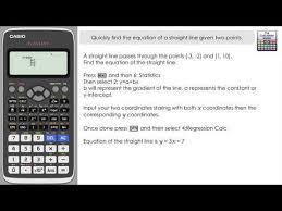 quick way using classwiz regressionthe