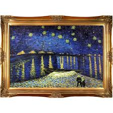 starry night over the rhone by vincent van gogh framed painting