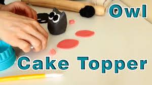 Sugar Paste Cake Decorating How To Make Sugar Paste Fondant Owl Cake Topper Happyfoods Youtube