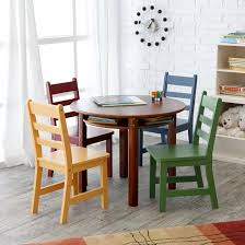 lipper childrens walnut round table and 4 chairs lipper childrens walnut round table and 4 chairs