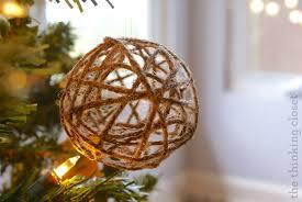 Diy String Ball Decorations Extraordinary Glitter Twine Ball Ornament Tutorial The Thinking Closet