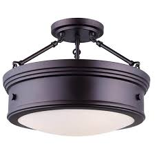 canarm boku semi flush mount 3 light oil rubbed bronze